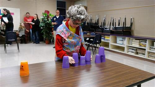 Family Reading Night-Cup Stacking