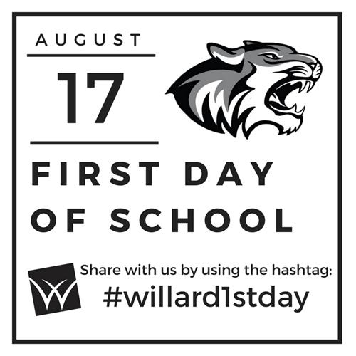 Willard First Day of School is August 17th