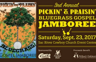 Pickin & Praisin Bluegrass Jamboree Flyer