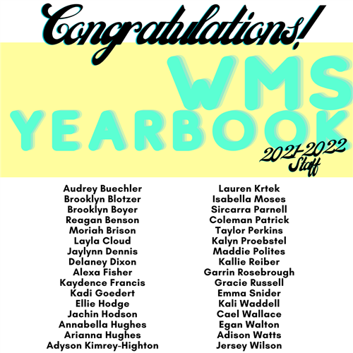 Yearbook 21-22 Staff