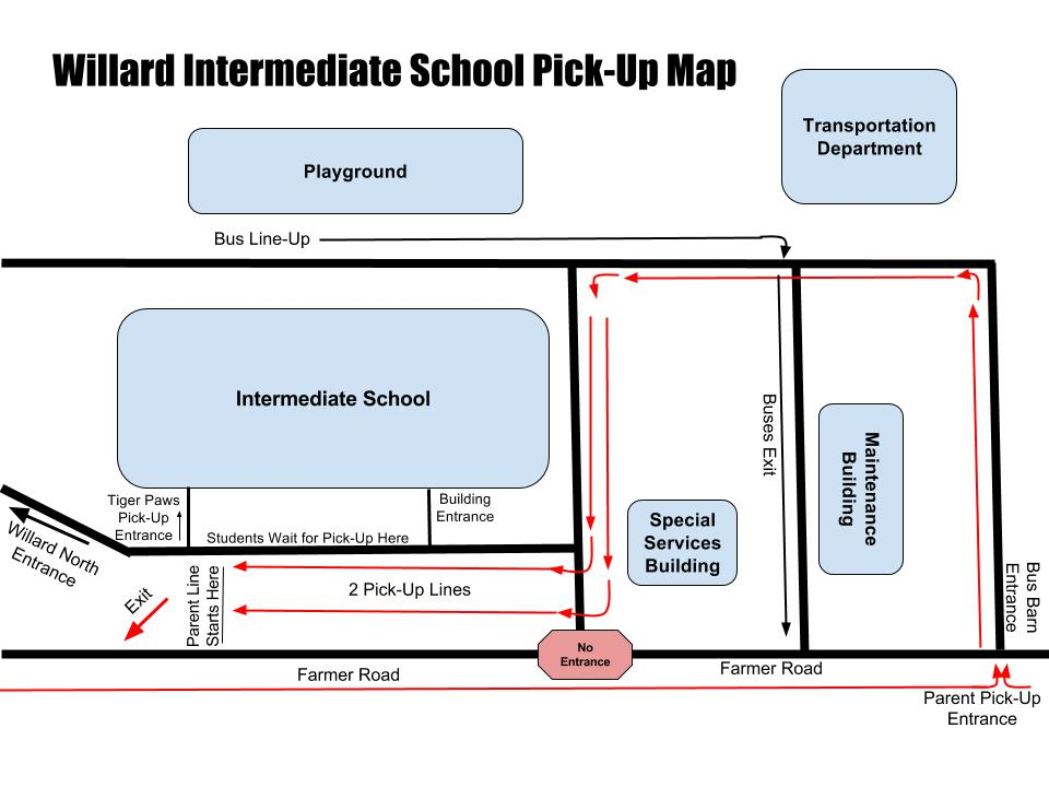 Parent Pick-Up Procedure Map